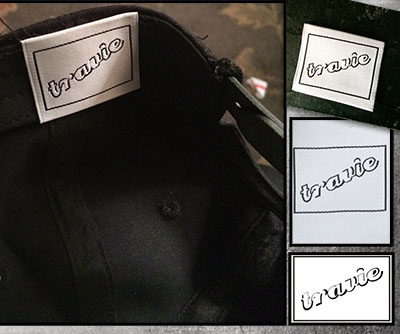Woven Damask, Custom Hat labels
