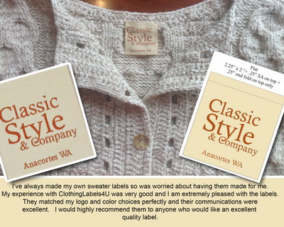 Custom woven Clothing labels