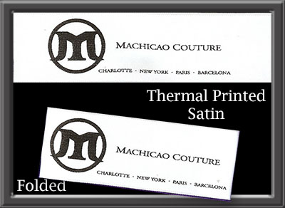 Thermal printed satin; printed labels; Care labels
