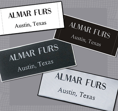 Custom Woven Labels, Fashion end folded labels