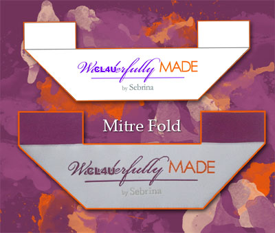 custom mitre fold labels