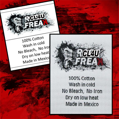 Custom woven labels with care instructions