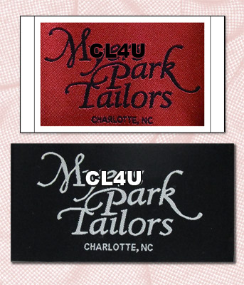 woven apparel labels