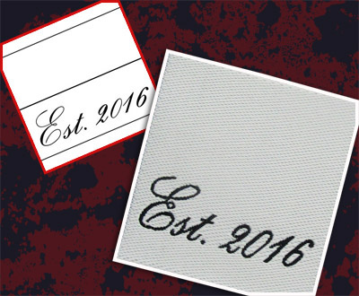 Custom clothing labels low minimums