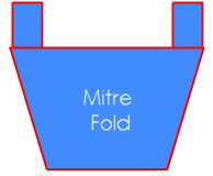Clothing Label - Mitre Fold