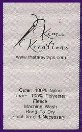 thermal printed satin labels